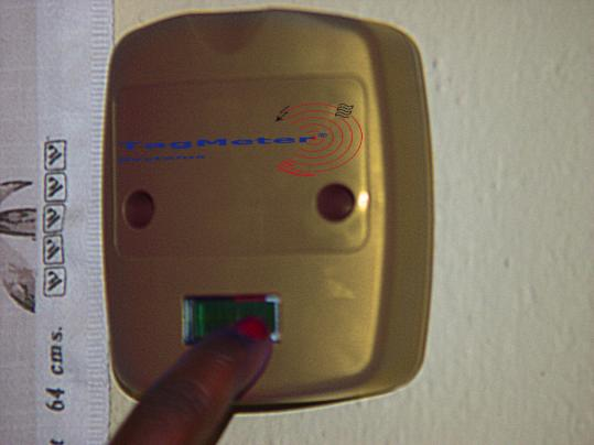 Split Metering: Electronics are mounted against the wall